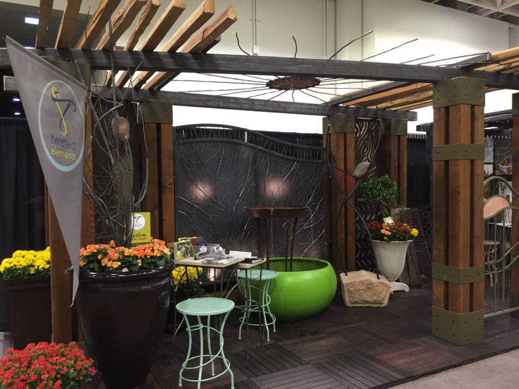 Twisted Elements Booth at the Minneapolis Home and Garden Show 2017