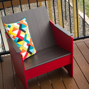 360 Five Designs Brio Lounge Chair in Red
