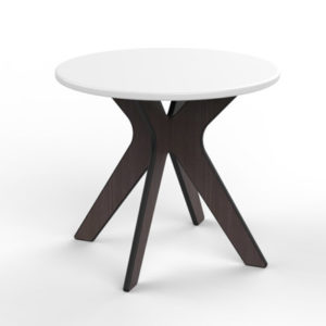 360Five Designs Camber Indoor and Outdoor End Table White