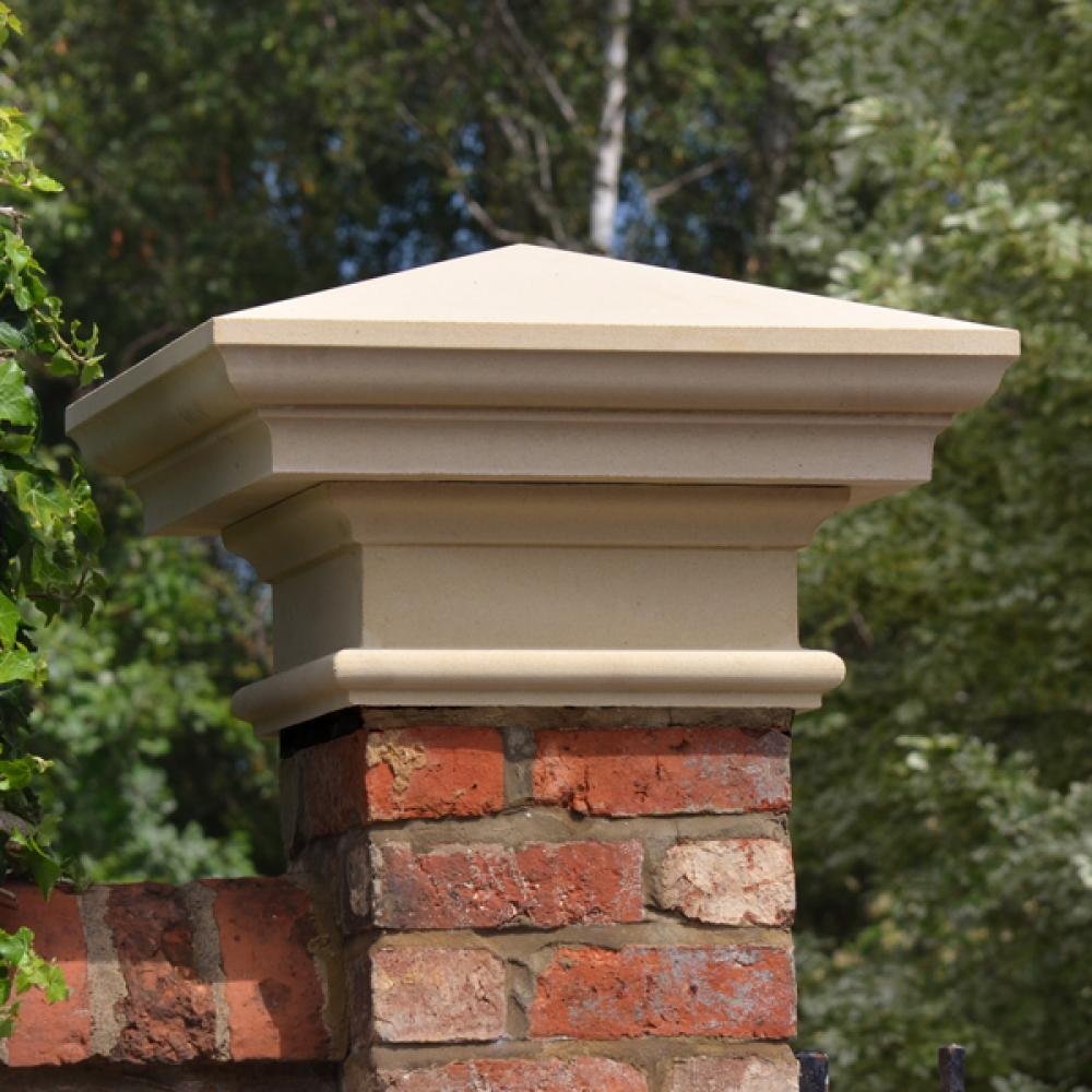 Natural Stone Pillars Caps : Haddonstone pier caps twisted elements