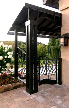MetalSmith's Custom Metal Gate and Walkway