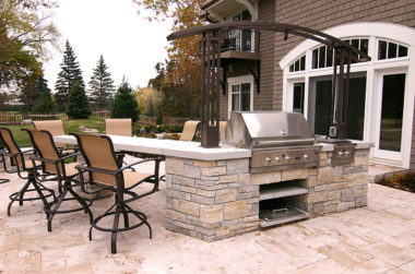 MetalSmith's Custom Outdoor Kitchen Arbor