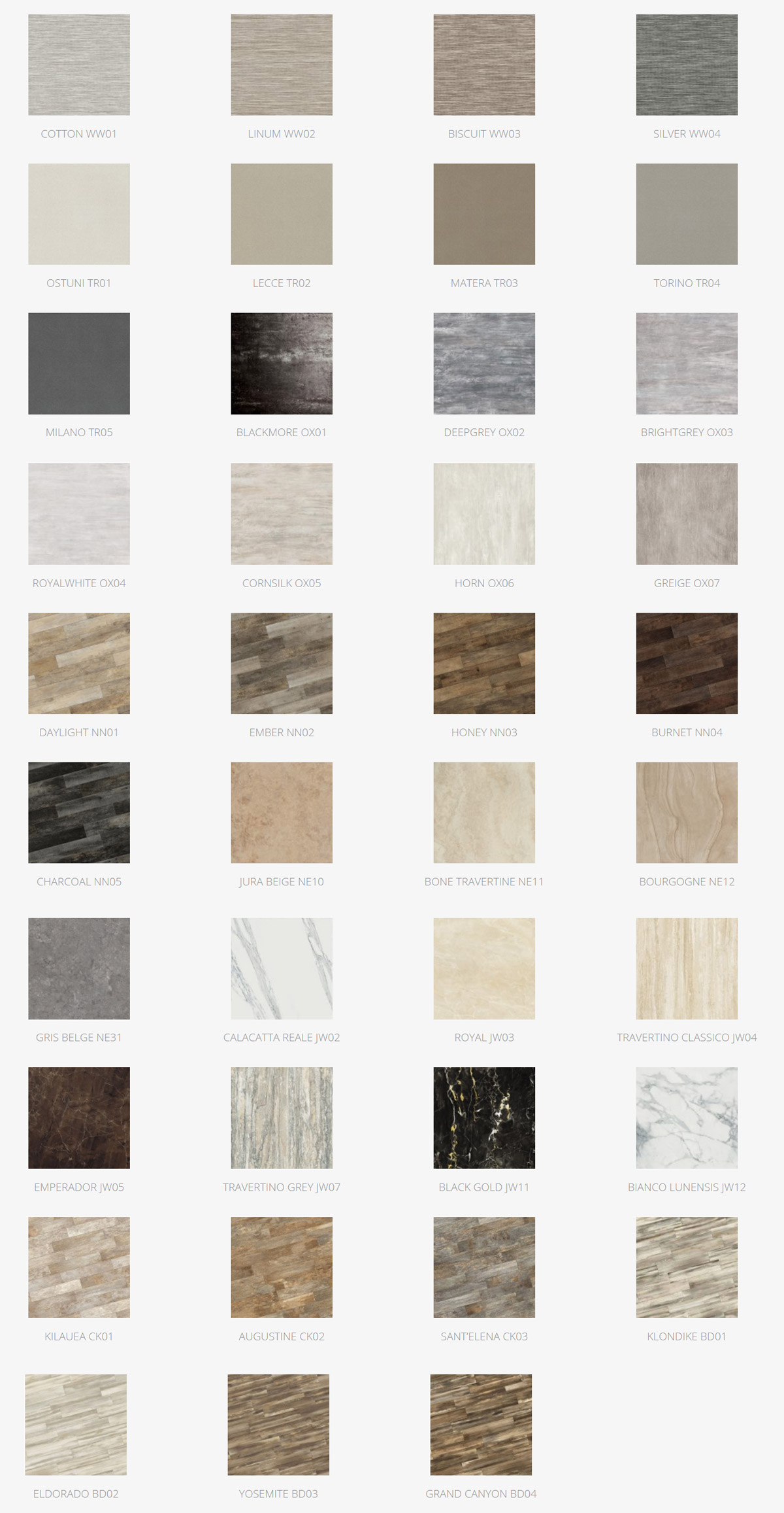 Mirage Porcelain Tile Colors