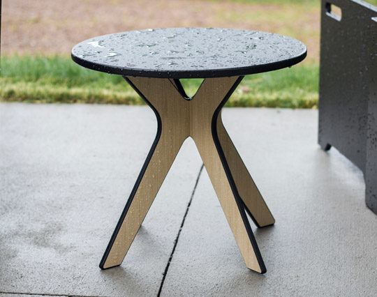 360Five Designs Camber Outdoor End Table Black