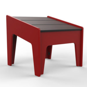 360Five Designs Midway Ottoman Red