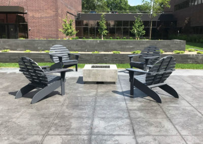 Adirondack Chairs in an Industrial Office Park Gathering Area