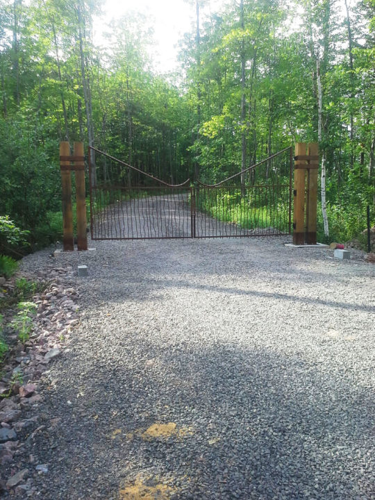 Custom Metal Cabin Security Gate by Metalsmith's Designs