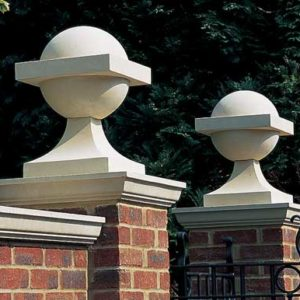 Haddonstone Ball Finial and Base