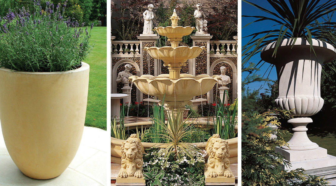 Limestone Planters and Statuary from Haddonstone USA Made