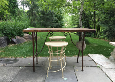 Metalsmith's Custom Metal and Wood Table