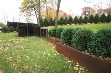 Corten Steel Planters and Metal Privacy Screens by Metalsmith's Designs
