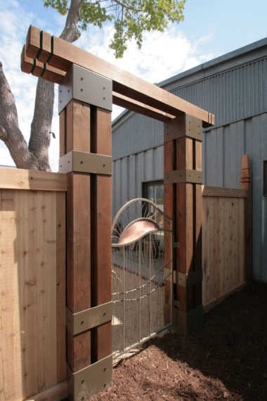 Custom Metal Privacy Gate by Metalsmith's Designs