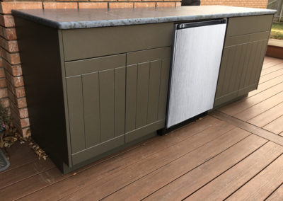 Open Air Cabinetry - Cape Cod in Moss Gray