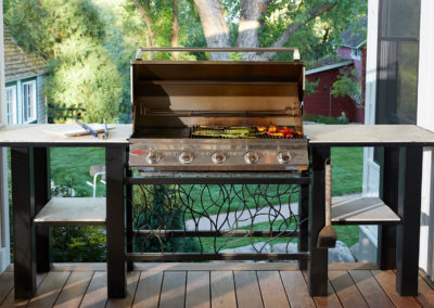 Custom Outdoor Grill Stand by Metalsmith's Design