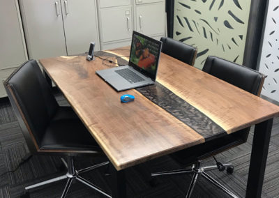 River Table Constructed for an Office Space with OutDeco Panels