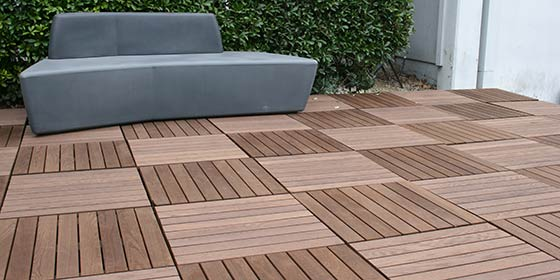 Tournesol Siteworks Boulevard Structural Wood Decking Tiles