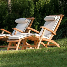 Westminster Teak Barbuda Collection Reclining Lounge Chair
