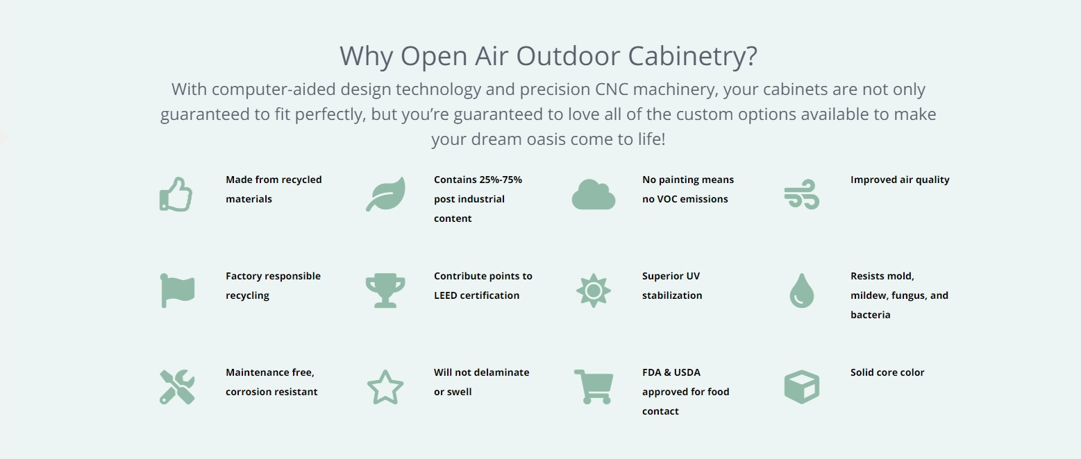 Why Open Air Outdoor Cabinetry twisted elements mn