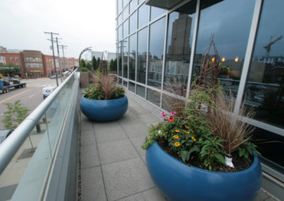 Tournesol Siteworks Planters installed on Condo Balcony
